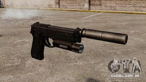 Pistola semi-automática Beretta 92 com silenciad para GTA 4