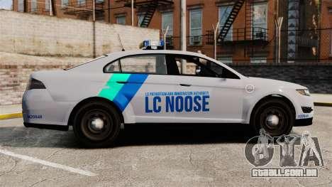 GTA V Vapid Police Stanier Interceptor [ELS] para GTA 4 esquerda vista