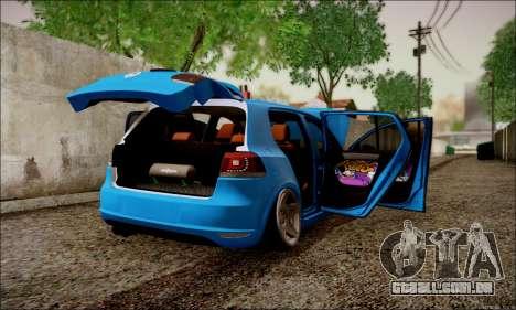 Volkswagen mk6 Stance Work para GTA San Andreas vista direita