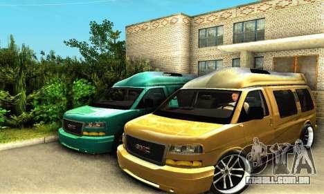 GMC Savana para GTA San Andreas vista interior