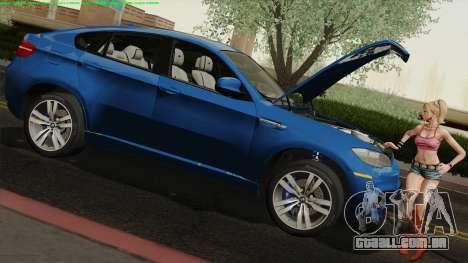 BMW X6M para GTA San Andreas vista direita