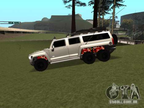 Hummer H3 6x6 para GTA San Andreas esquerda vista