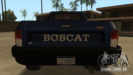 Bobcat HD from GTA 3 para GTA San Andreas vista direita