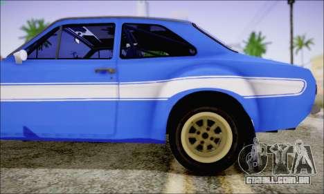 Ford Escort Mk1 RS1600 para GTA San Andreas vista traseira