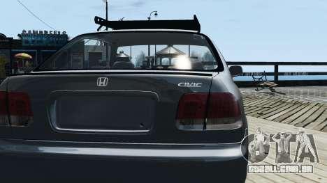 Honda Civic 1.6i ES para GTA 4 vista direita