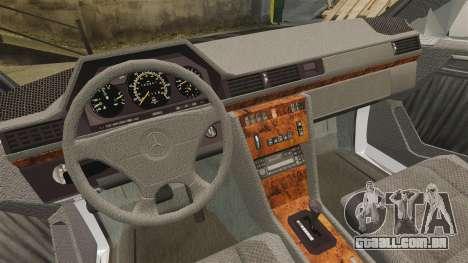 Mercedes-Benz C220 W202 v2.0 para GTA 4 vista de volta