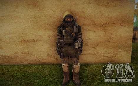 COD MW3 Heavy Commando para GTA San Andreas por diante tela