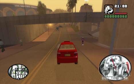 Speedometr da Rockstar para GTA San Andreas por diante tela