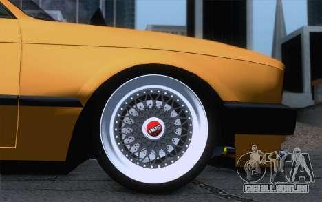 BMW E30 325i para GTA San Andreas traseira esquerda vista