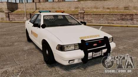 GTA V Police Vapid Cruiser Sheriff para GTA 4