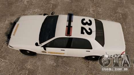 GTA V Police Vapid Cruiser Sheriff para GTA 4 vista direita