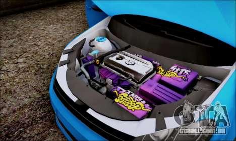 Volkswagen mk6 Stance Work para GTA San Andreas vista traseira
