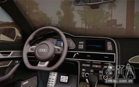 Audi RS6 Police para GTA San Andreas vista direita