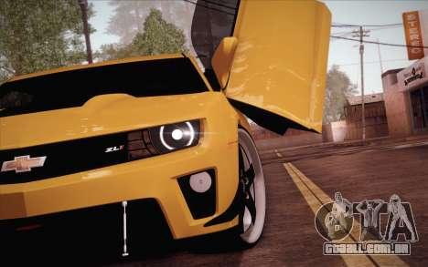 Chevrolet Camaro ZL1 para GTA San Andreas traseira esquerda vista