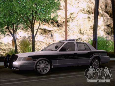 Ford Crown Victoria San Andreas State Trooper para GTA San Andreas vista interior