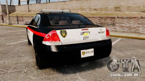 Chevrolet Impala 2008 LCPD STL-K Force [ELS] para GTA 4 traseira esquerda vista