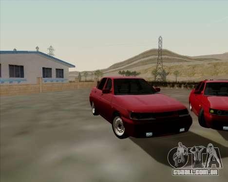 VAZ 2110 para GTA San Andreas vista interior