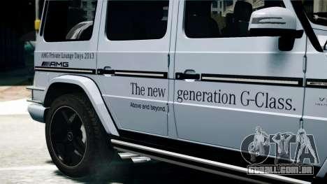 Mercedes-Benz G65 AMG 2013 para GTA 4