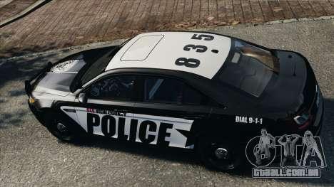 Ford Taurus Police Interceptor 2010 para GTA 4 vista direita