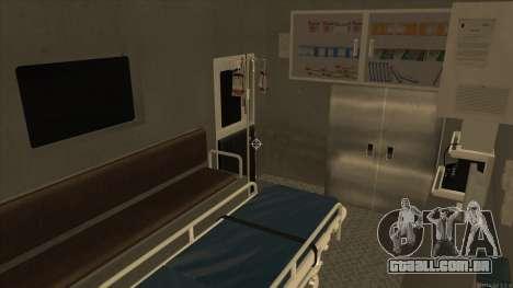 Ambulance HD from GTA 3 para GTA San Andreas vista interior
