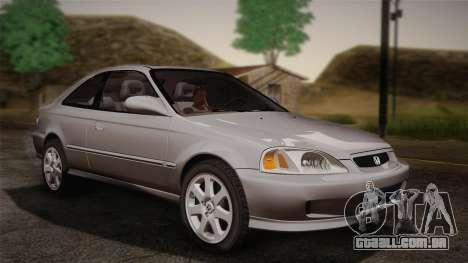 Honda Civic Si 1999 Coupe para GTA San Andreas traseira esquerda vista