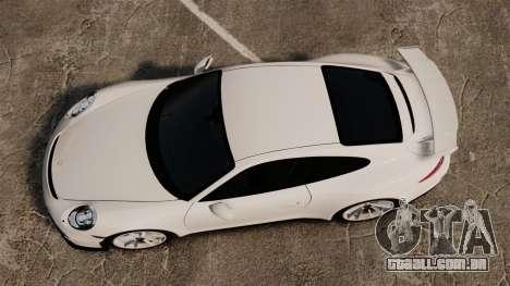 Porsche 911 GT3 (991) 2013 para GTA 4 vista direita