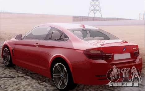 BMW 435i para GTA San Andreas vista direita