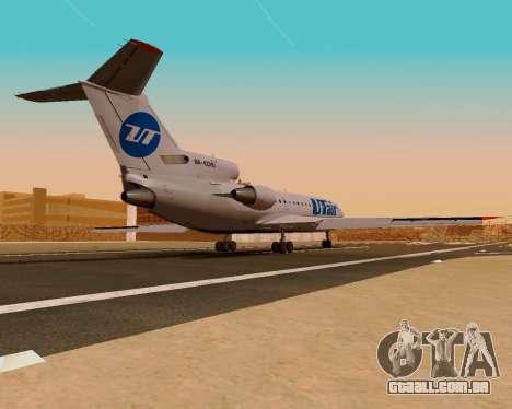 Iaque-42D0547 UTair para GTA San Andreas esquerda vista