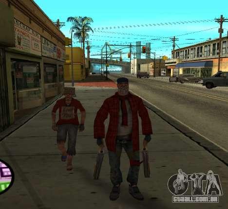 Vagabundos para GTA San Andreas segunda tela