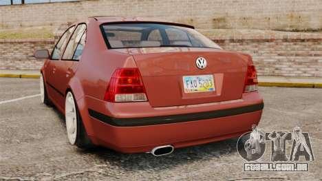 Volkswagen Bora VR6 2003 para GTA 4 traseira esquerda vista