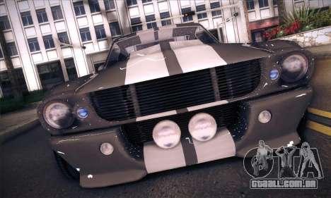 Shelby GT500 E v2.0 para GTA San Andreas traseira esquerda vista