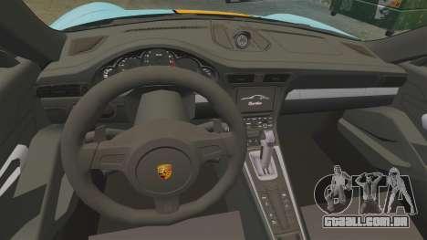Porsche 911 Turbo 2014 [EPM] Gulf para GTA 4 vista de volta