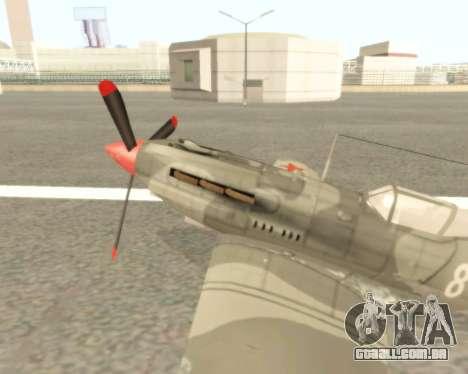 MIG-3 para GTA San Andreas esquerda vista