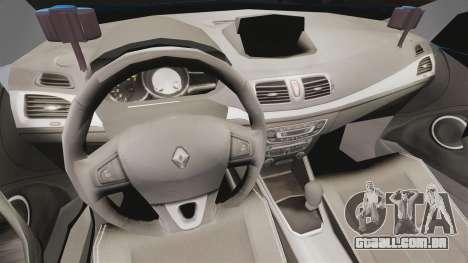 Renault Megane RS Gendarmerie Nationale [ELS] para GTA 4 vista de volta