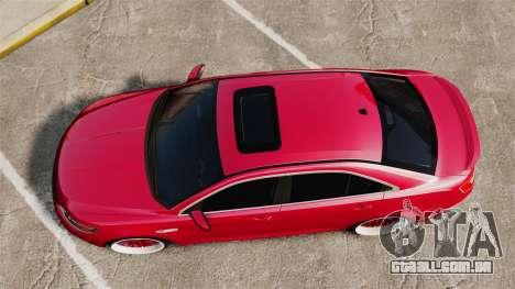 Ford Taurus SHO 2010 para GTA 4 vista direita