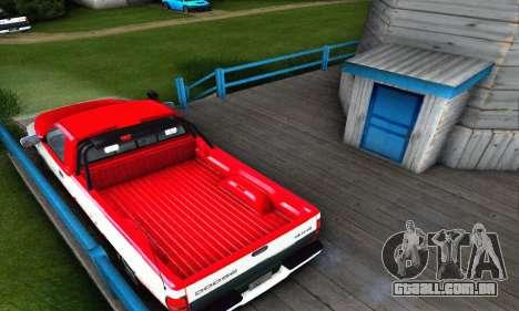 Dodge Ram 2500 para GTA San Andreas traseira esquerda vista