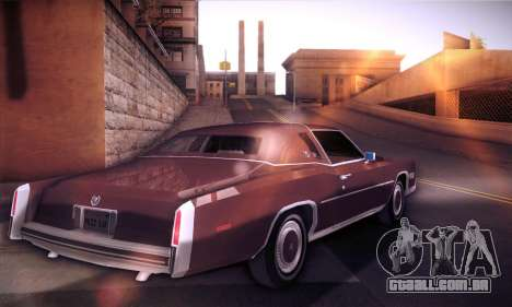Cadillac Eldorado 1978 Coupe para GTA San Andreas traseira esquerda vista