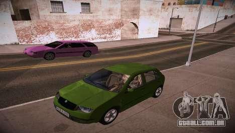 Skoda Fabia para GTA San Andreas vista direita