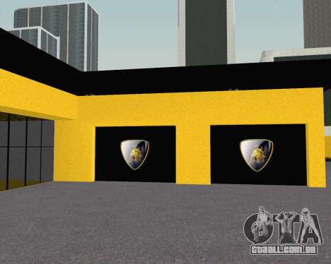 Lamborghini Dealer San Fierro para GTA San Andreas por diante tela