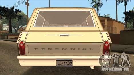 Perennial HD from GTA 3 para GTA San Andreas traseira esquerda vista