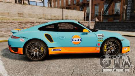 Porsche 911 Turbo 2014 [EPM] Gulf para GTA 4 esquerda vista