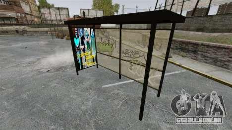 Nova publicidade nas paragens de autocarro para GTA 4 por diante tela