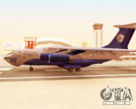 Il-76td forma de seda para GTA San Andreas traseira esquerda vista