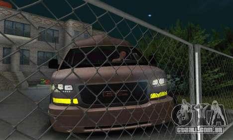 GMC Savana para GTA San Andreas vista inferior