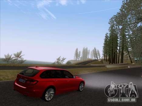 BMW 3 Touring F31 2013 para GTA San Andreas traseira esquerda vista