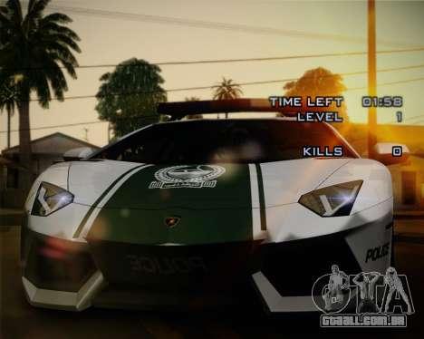 Lamborghini Aventador LP700-4 2012 RCPD V1.0 para GTA San Andreas interior
