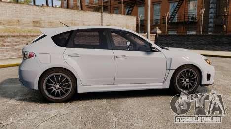 Subaru Impreza Cosworth STI CS400 2010 para GTA 4 esquerda vista