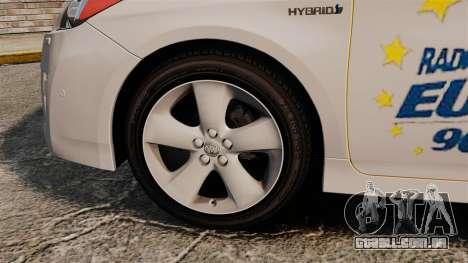 Toyota Prius 2011 Warsaw Taxi v2 para GTA 4 vista de volta