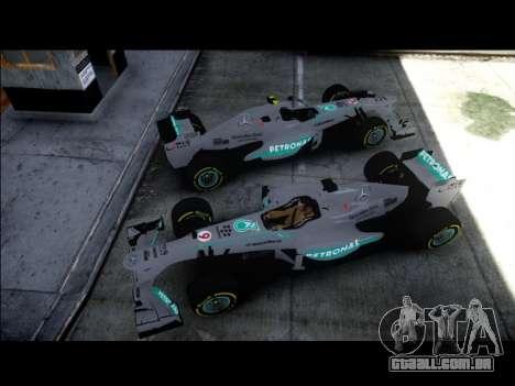 Mercedes F1 W04 para GTA 4 traseira esquerda vista