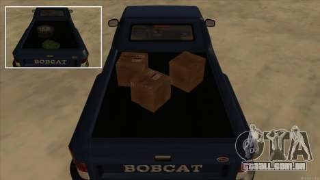 Bobcat HD from GTA 3 para GTA San Andreas vista traseira